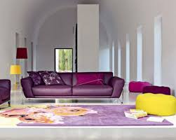 interior purple wall paint house ideas yellow color design with