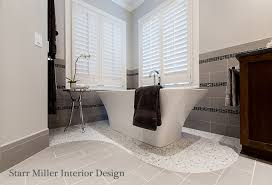 Spa Like Master Bathrooms - lake norman interior design starr miller interior design nc
