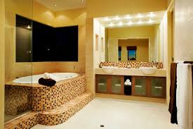 yellow bathroom wall paint ideas with square mirror and luxury