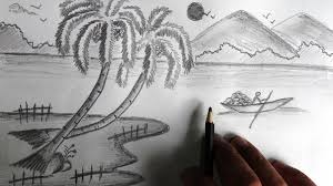 nature sketch drawing tag easy pencil sketch drawing nature