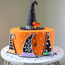 halloween cake pics witch hats a halloween cake decorating tutorial my cake