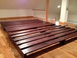 bedroom wood platform sorrel rustin hardwood beds how to build