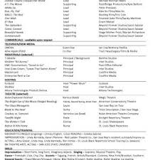 Beginner Resume Template Acting Resume Format Template Acting A G Xcsd Cover Letter