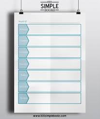 free weekly planner template 100 simple books