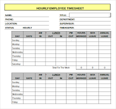 Excel Work Timesheet Template 11 Hourly Timesheet Templates Free Sle Exle Format