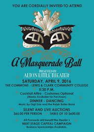 alton little theater u0027s inaugural masquerade ball lewis and clark