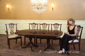 antique mahogany dining room furniture table alluring double pedestal mahogany dining room table oak 353