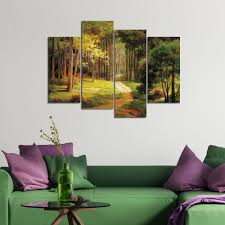 canvas print painting picture wall art home decor landscape green