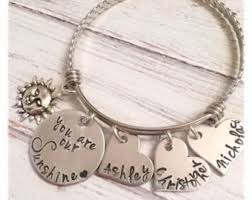 Mothers Necklaces With Children S Names Mothers Bracelet Etsy