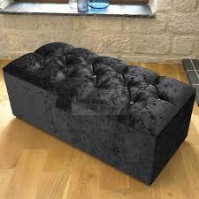 Crushed Velvet Fabric Upholstery Clara Diamond Crushed Velvet Fabric Upholstered Bed Frame