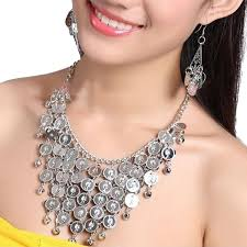 Silver Accessories Amazon Com Bellylady Belly Dancing Gypsy Jewelry Silver Coin