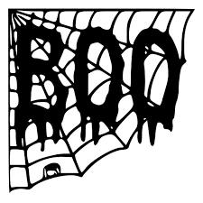 halloween boo with spider web die cut decal car window wall bumper