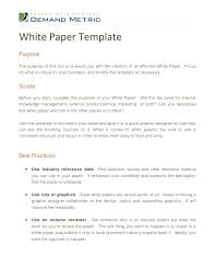 technical report word template white paper template