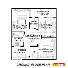 House Planing House Plan For 28 Feet By 32 Feet Plot Plot Size 100 Square Yards