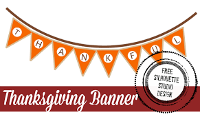free thanksgiving banner silhouette design silhouette school