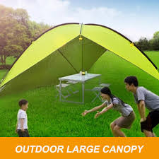 Camping Tent Awning Outdooors Large Single Side Tent Sunshade Canopy Awning Beach Sun
