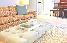 coffee table fabulous round tufted storage ottoman white leather