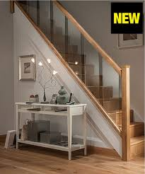 metal landing banister and railing axxys reflections oak and glass 12 step staircase and landing