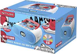 cd player für kinderzimmer muse kinder cd player m 23 kdb aux cd ukw usb blau a010