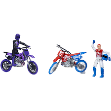 toy motocross bikes adventure wheels mxs wicked rivals 2 pack series 2 super hero vs