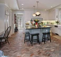 Kitchen Tiling Ideas Pictures Best 25 Brick Floor Kitchen Ideas On Pinterest Wood Cabinets