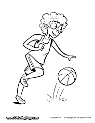 basketball coloring pages for kids free coloring pages for kids