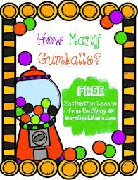 free gumball estimation activity