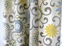 Mustard Colored Curtains Inspiration The Curtain Project Moody Side Of With Gray Green Curtains