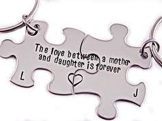 mother daughter keychain mother daughter gifts hand stamped