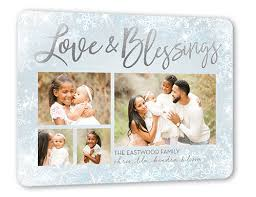 sending our blessings 6x8 religious christmas card by stacy claire