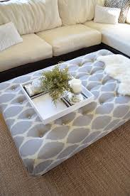 Grey Tufted Ottoman Furniture Coffee Table Cover Inspirations Scandinavian Style