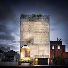 auhaus architecture designs porous facade for richmond mixed use