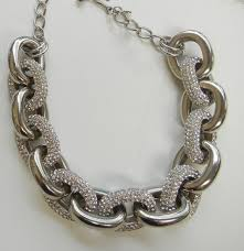 big link necklace images Kyle richards 39 chunky pave chain link necklace big blonde hair jpg