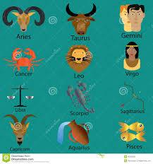 zodiac cartoon stock vector image 45500229