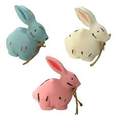 easter day wooden 3d colorful rabbit ornaments home decor bunny with