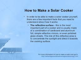 How To Make A Solar Light - how to make a solar cooker