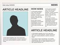 newspaper theme for ppt editable powerpoint newspapers