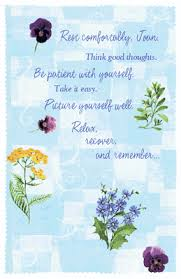 think thoughts greeting card get well printable card