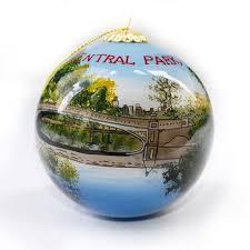 bridge painted glass ornament