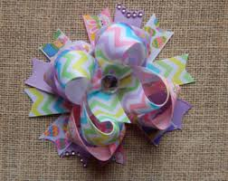 easter hair bows items similar to easter hair bow easter baby girl hair bow