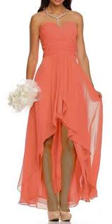 bridesmaid dresses coral high low ruched bodice strapless layered coral bridesmaid dress