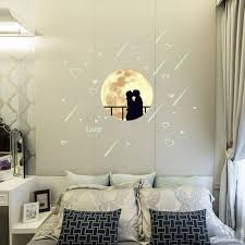online get cheap glow dark room decoration aliexpress com glow in the dark star luminous wall stickers romatic lovers fluorescent wall sticker removable room decor