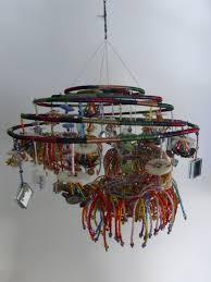 mobile feng shui decor hanging mobile recycled art zen