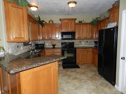 kitchen cabinets and countertops cheap kitchens with oak cabinets with black appliances and granite counter