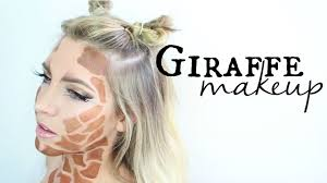 halloween makeup cute cute giraffe makeup tutorial halloween youtube