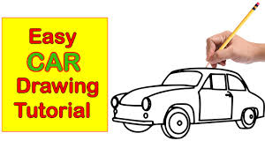 car drawing step by step easy tutorial for kids youtube