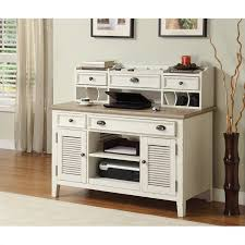 executive l shaped credenza desk with 2 door open hutch with