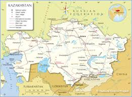 Kyrgyzstan Map 1958 Large Vintage Map Of The Ussr Central Asia And Kazakhstan