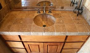 bathroom countertop tile ideas travertine bathroom countertops bathroom design ideas