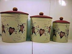 primitive kitchen canister sets image detail for kitchen cannisters accessories hearts